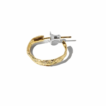 YELLOW GOLD PETITE HAIR HOOP EARRING.jpg